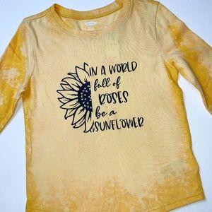 NWOT Toddler Custom Sunflower Design T-Shirt